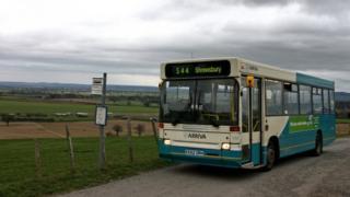 544 bus near Shrewsbury 15/03/2007