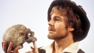 Derek Jacobi in a BBC adaptation of William Shakespeare's play 'Hamlet'.
