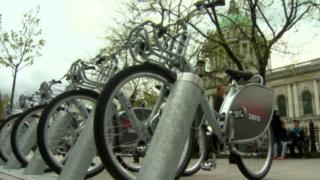 Belfast bikes outside the City Hall