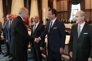 Erdoğan ve belediye başkanları