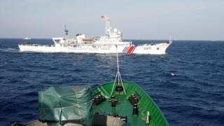 Hình tư liệu tháng 5/2014, khi xảy ra căng thẳng vì giàn khoan dầu của Trung Quốc (HD-981) đưa tới khu vực quần đảo Hoàng Sa