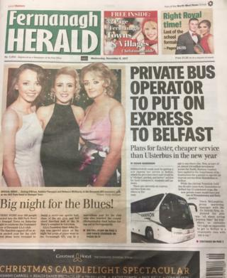Fermanagh Herald front page