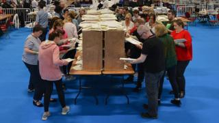 Votes are counted in Dublin