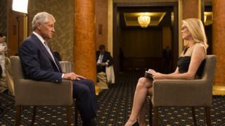 Katty interviewing Chuck Hagel