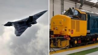 Avro Vulcan XH558 - the aircraft and the locomotive