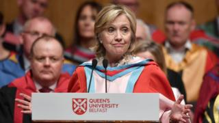 Hilary Clinton at Queen's University Belfast