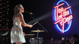 Ellie Goulding performs on a special Top of the Pops