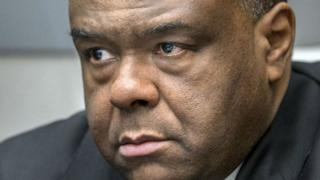 Former DR Congo leader Jean-Pierre Bemba Gombo waits in a court room of the ICC in The Hague in 2016