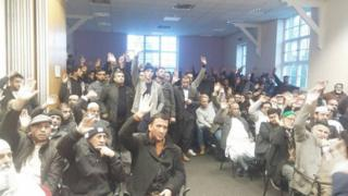 Around 300 people met at the Unity Centre in Rotherham on Monday to discuss the boycott