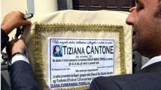 Tiziana Cantone'nin cenaze töreni
