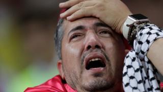 Tunisian fan after winner