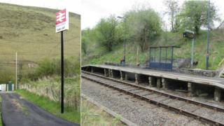 """Wales' """"quietest"""" station, Sugar Loaf Halt"""