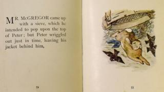Two pages from Beatrix Potter's