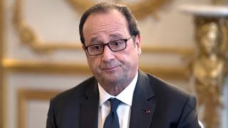 Francois Hollande at Elysee Palace on October 14, 2016