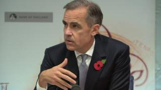 Bank of England governor Mark Carney at November's inflation report press conference