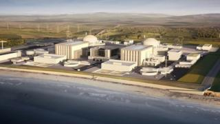Computer generated image of Hinkley Point C nuclear power station