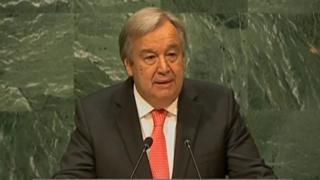Antonio Guterres zai fara aiki ne daga watan Janairun shekarar 2017 bayan cikar wa'adin Ban Ki-Moon