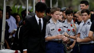 槍擊案其中一名遇害華裔男生王彼得日前舉殯