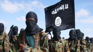 Somali al-Shabab fighters gather