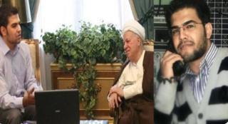 مسعود مولوي مع الرئيس الإيراني السابق أكبر هاشمي رفسنجاني