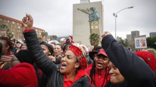 South African women protest against gender abuse in Cape Town, South Africa - 1 August 2018