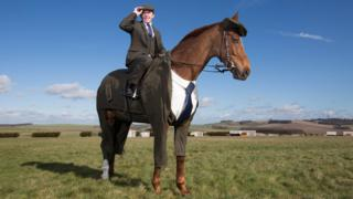 Race horse Morestead in Harris Tweed