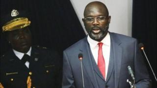 Aarẹ George Weah ti orilẹede Liberia