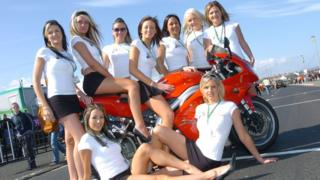 'Grid girls' at the 2006 North West 2000 road races on the North Antrim coast