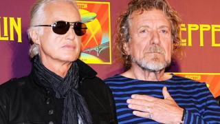 Guitarist Jimmy Page and singer Robert Plant