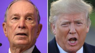 Bloomberg (left) and Trump