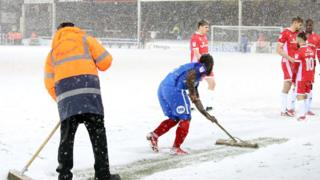 Posh players turn sweepers