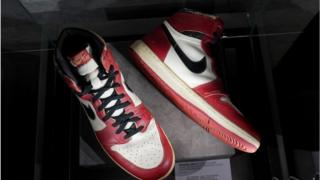 Michael Jordan wore the Nike Air Jordan 1 sneakers for a memorable exhibition game in 1985