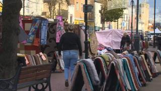 Flint market stalls