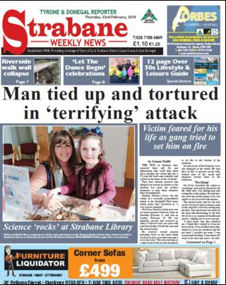 Strabane Weekly News front page 21.02/18
