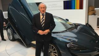 Racing legend Sir Jackie Stewart at the launch of McLaren's new 570GT