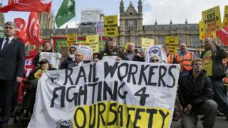 RMT strike at Westminster