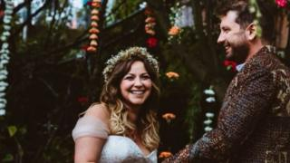 Charlotte Church tweeted this image of the couple tying the knot