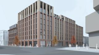 An artist's impression of the planned redevelopment of the building