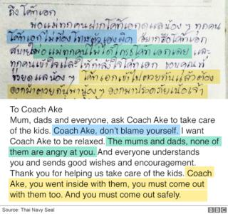 To coach Ake