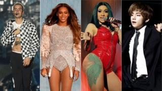Justin Bieber, Beyonce, Cardi B và BTS tất cả đều có các bản hit song ngữ trong bảng xếp hạng Anh