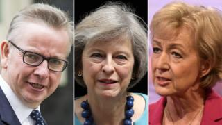 Michael Gove, Theresa May, Andrea Leadsom