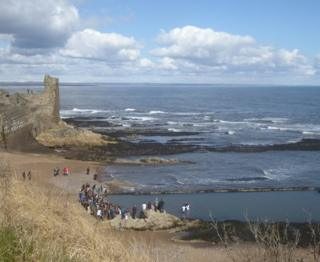 Baptism at Castle Sands in St Andrews