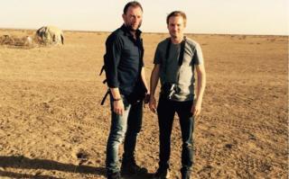 The two Belgian journalists: Kurt Wertelaers (L) and Benoit de Freine
