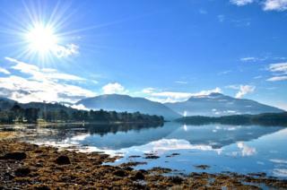 Loch Etive in the sunshine