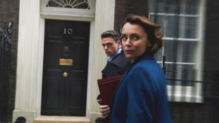 Bodyguard actors Keeley Hawes and Richard Madden