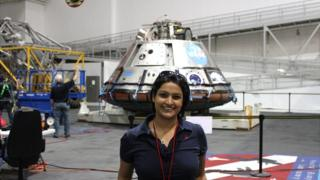 Dr. Varsha Jain at Johnson Space Center
