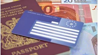 EHIC, British passport and euros