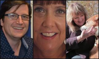 Llwyd Owen, Marlyn Samuel a Bethan Gwanas