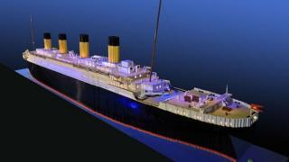 The 26ft-long Titanic replica