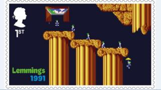 Lemmings stamp